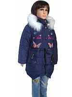 Зимняя куртка на девочку с мехом