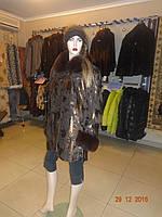 Куртка коричневая с воротником