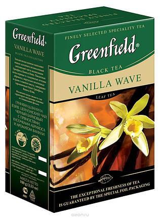 Greenfield Vanilla Wave черный листовой чай, 100 г, фото 2