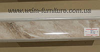 Плинтус кухонный мрамор оникс L=3000, фото 1