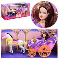 Карета с лошадью, с куклой Барби, лошадь ходит 9988