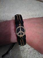 Кожаный браслет ПАЦИФИК ручная работа