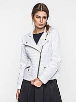 Приталенная женская демисезонная куртка косуха на синтепоне 9096