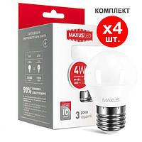 Светодиодная лампа 4-LED-5410 G45 E27 4W 4100K 220V (по 4 шт.) Maxus