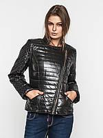 Приталенная демисезонная женская куртка косуха на синтепоне 9096/2