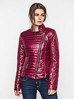 Приталенная демисезонная куртка косуха, на синтепоне 9096/1, фото 1