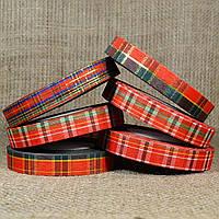 """Лента """"Шотландский тартан (Шотландка)"""" 1,8 см/50 ярдов с люрексом в ассортименте"""