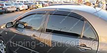 Ветровики окон Тойота Каролла 9 (дефлекторы боковых окон