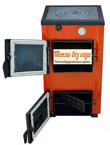 Твердотопливный котел Amica Optima 14 кВт с плитой, фото 2
