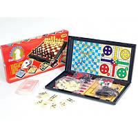 Шахматы 9863 8 в 1 шахматы, шашки, карты, домино, змейки и лесницы, тритрак, лудо и нарды