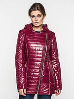 Удлиненная демисезонная женская куртка косуха на синтепоне 9097