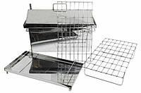 Коптильня Средняя из нержавеющей стали (500х300х350мм) с крышкой домиком