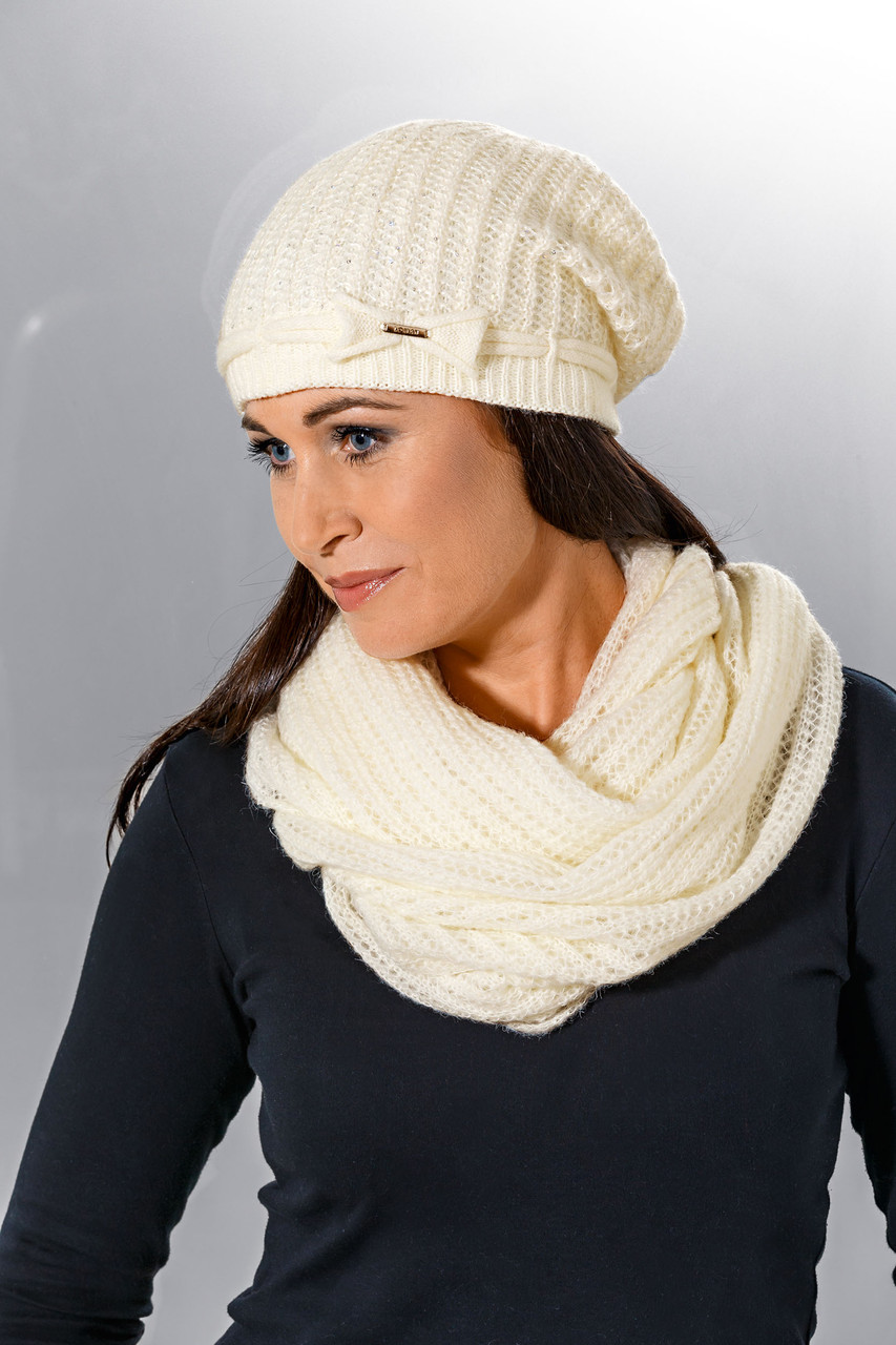 Теплый вязанный женский шарфик снуд  от Loman Польша