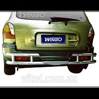 Hyundai Santa Fe 2001-2007 защита заднего бампера, металл
