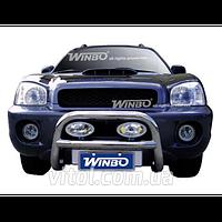 Hyundai Santa Fe 2001-2007 защита переднего бампера, металл, QQO120 (A130004|DJ050623)