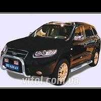 Hyundai Santa Fe 2007-2013 защита переднего бампера, металл
