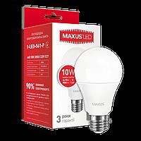 Лампа светодиодная MAXUS A60 10W 3000K 220V E27 (1-LED-561-P)