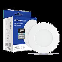 Светильник светодиодный GLOBAL SPN 3W 4100K C (3шт в уп.) (3-SPN-002-C)