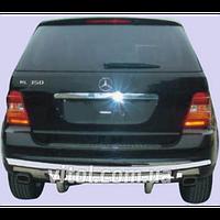 Mercedes ML 164 2005-2013 защита заднего бампера, металл