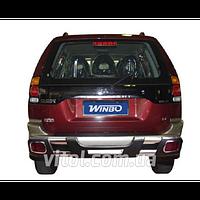 Mitsubishi Pajero Sport 1996-2009 защита заднего бампера, металл