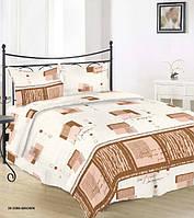 Семейный бязевый комплект постельного белья GOLD115 г/м2, 30-0390 Brown
