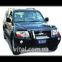 Mitsubishi Pajero 1999-2006 защита переднего бампера, металл  MS-A061012
