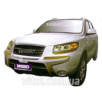 Hyundai Santa Fe 2007-2013 защита переднего бампера, металл A130399