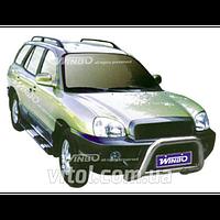 Hyundai Santa Fe 2001-2007 защита переднего бампера, металл A130005