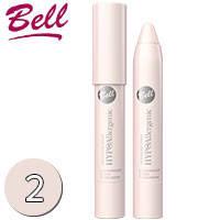 Bell HypoAllergenic - Тени для век в карандаше Waterproof Тон 02 серебристо розовые