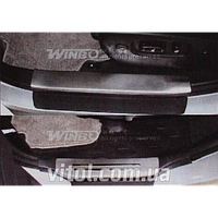 Toyota Highlander 2007-2014 накладки на пороги, металл WF 09100900