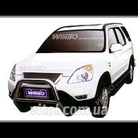 Honda CRV 2002-2006 защита переднего бампера, металл, A150003