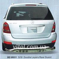 Mercedes GL X164 2006-2013 защита заднего бампера, металл  BZ-B031