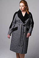Пальто весеннее твидовое большие размеры, фото 1