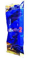 Одноразовые бритвенные станки  Gillette 2 + Gillette Blue 3