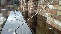 Стеклянный козырек-навес из стекла бронза