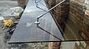 Стеклянный козырек-навес из стекла бронза, фото 3