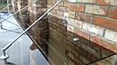 Стеклянный козырек-навес из стекла бронза, фото 4