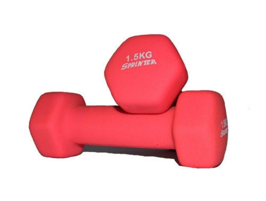 Гантель для фитнеса неопреновая 1,5кг (пара)