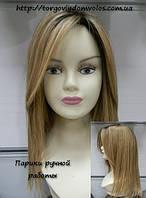 Парик из натуральных волос блонд Natali