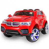 Детские детский электромобиль джип BMW, красный