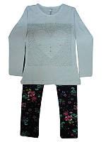 Костюм дівчинка трикотаж 110-128 кофта+легінси арт.34953