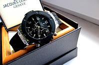 Часы наручные мужские Hublot черное серебро,магазин часов