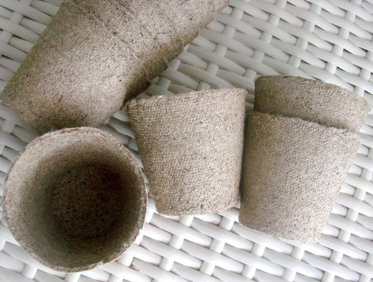 Торфяные горшки для выращивания рассады 8*8 см Jiffy, Дания, круглые