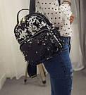 Рюкзак с пайетками хамелеон черный., фото 4