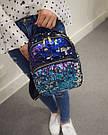 Рюкзак с пайетками хамелеон черный., фото 9