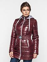 Длинная демисезонная женская куртка с капюшоном 80100
