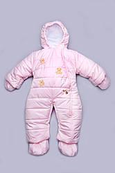 Детский зимний комбинезон для девочки розовый