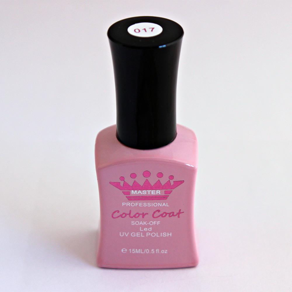 Гель-лак Master Professional 15 мл №017 - бледно-розовый