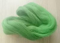 Австралийский меринос для валяния 23микрон (10грамм) - светло зелёный
