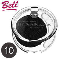 Bell HypoAllergenic - Тени для век 1-цв. EyeShadow Тон 10 темные серые сатиновые